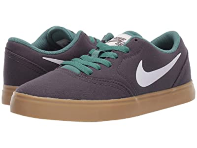 Nike Kids Check Canvas (Big Kid) (Thunder Grey/Summit White/Bicoastal) Boys Shoes