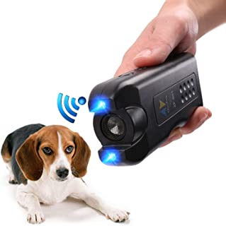 APlus+ Handheld Dog Repellent, Ultrasonic Infrared Dog Deterrent, Bark Stopper + Good Behavior Dog Training, Black