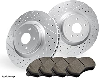 2016 2017 For Mazda CX-3 AWD Coated Drilled Slotted Front Rotors and Pads