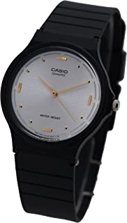 Casio Mens Quartz Watch, Analog Display and Rubber Strap MQ-76-7A1LDF
