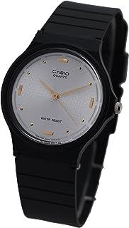 Casio Men's MQ76-7A1 Black Resin Quartz Watch with White Dial