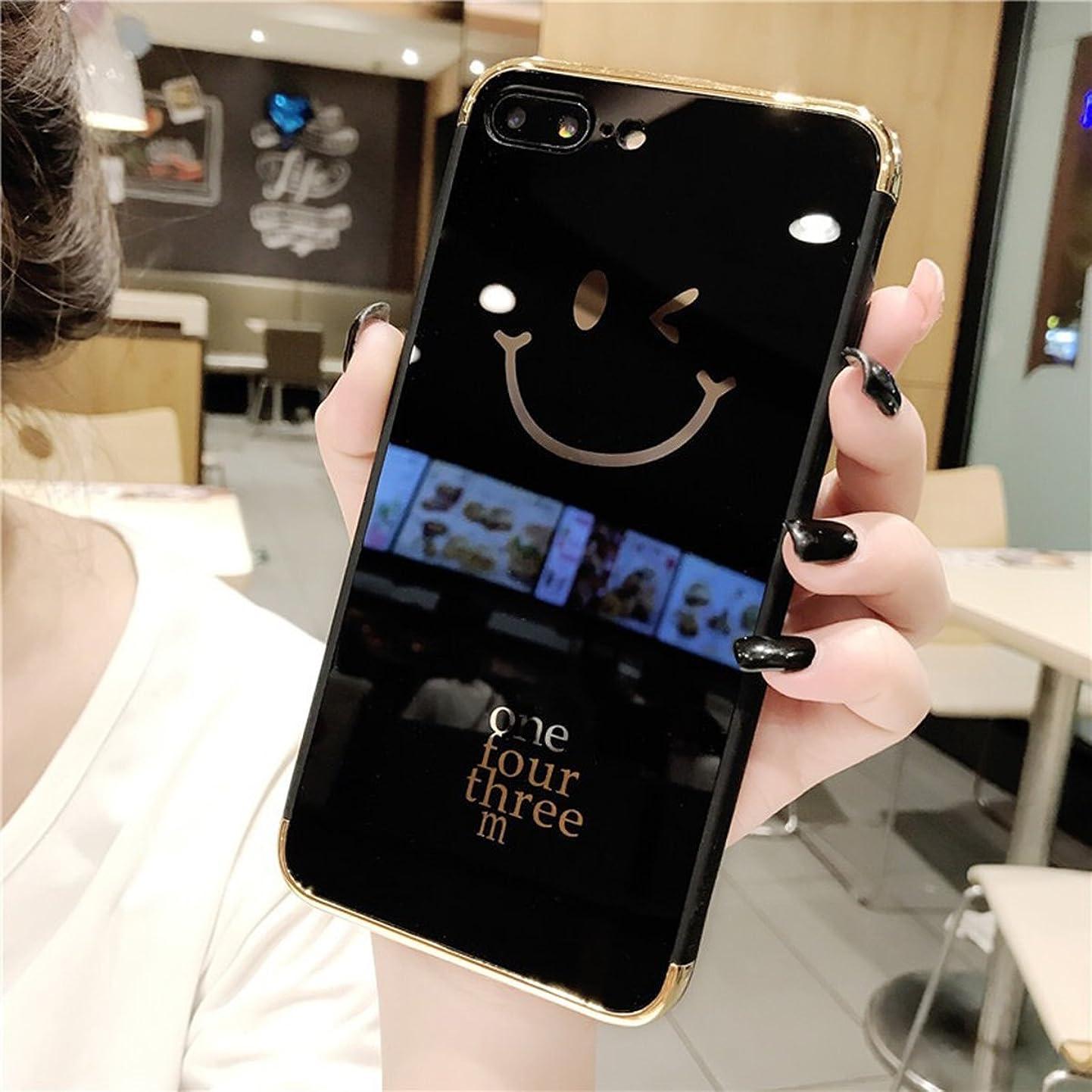 怖い権威考古学iPhone 7?Plusケース、iPhone 8?Plusケース、IKASEFU Shinyメッキミラーアクリルバック耐衝撃ラグジュアリーキラキラBling BrightソフトTPUシリコンバンパー保護カバーfor iPhone 7?Plus/8?Plus IKASEFU00005605