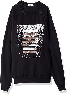 Bella Cotton BCW523P Printed Ribbed Trim Round Neck Long Sleeves Sweatshirt for Men