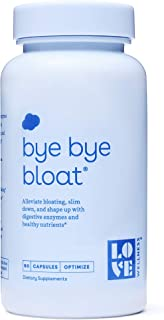 Love Wellness Bye, Bye, Bloat - Digestive Enzymes Supplement - 30 Day Supply - Bloating Relief - Gas Relief - Helps Reduce...