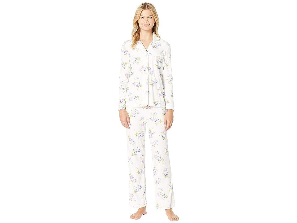 Carole Hochman Luxe Cozy Fleece Pajama Set (Peri Roses) Women
