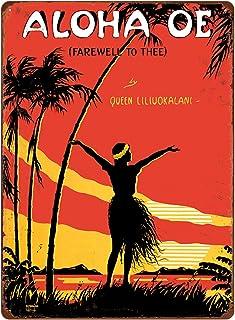 Pacifica Island Art 12in x 16in Vintage Hawaiian Tin Sign - Aloha Oe by LeMorgan