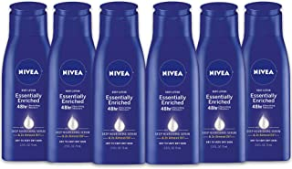 NIVEA Essentially Enriched Body Lotion - 48 Hour Moisture For Dry to Very Dry Skin - 2.5 fl. oz. Bottle (Pack of 6)