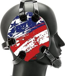 Geyi Wrestling Headgear with American Flag Decals