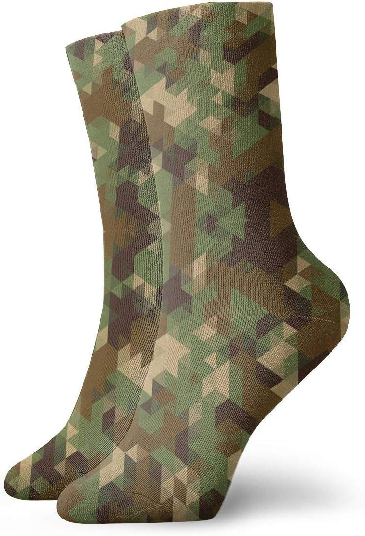 Unisex Casual Camouflage Military Socks Moisture Wicking Athletic Crew Socks