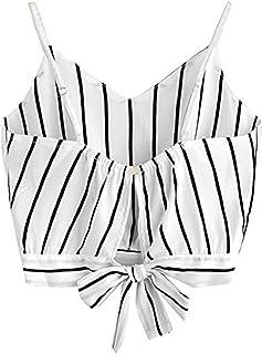 Crop Tops Mujer Verano Camisetas sin Mangas Halter Top Chaleco Camiseta