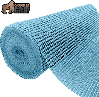 Gorilla Grip Original Drawer and Shelf Liner, Non Adhesive Roll, 12 Inch x 10 FT, Durable and Strong, Grip Liners for Drawers, Shelves, Cabinets, Storage, Kitchen and Desks, Aqua