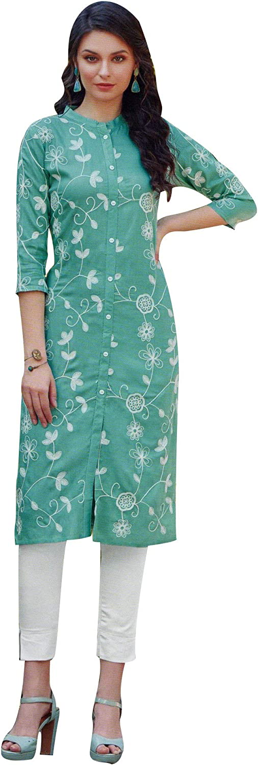 Sale SALE% OFF ladyline Blend Cotton Embroidered Kurti Sale special price Casual for Tunic Womens