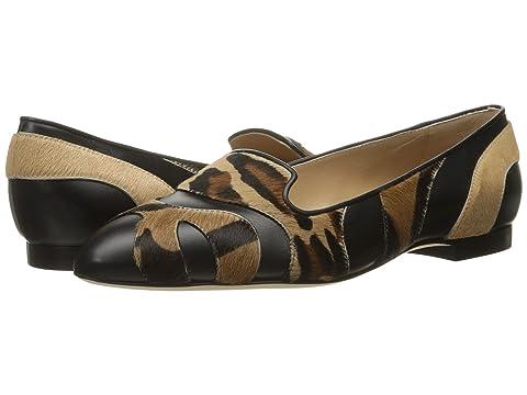 Alberta Ferretti Calf Leather Mixed Animal Flat, A1566