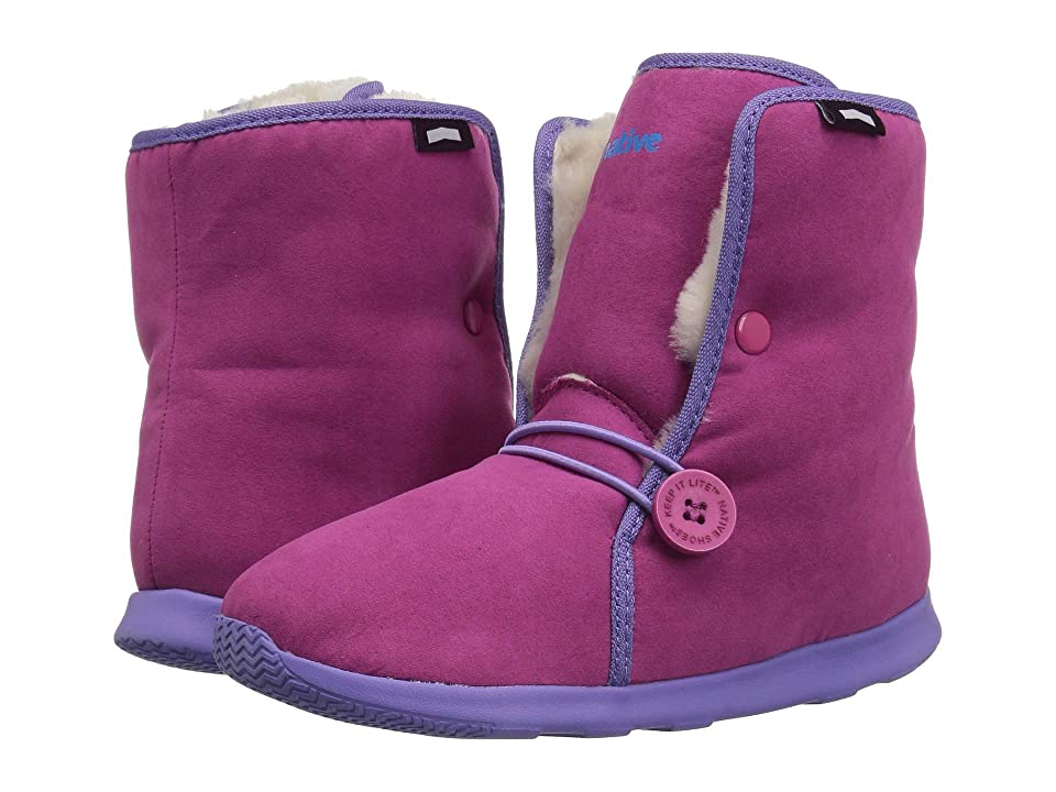 Native Kids Shoes Luna Junior Boot (Little Kid/Big Kid) (Resort Pink/Thistle Purple/Bone White) Girls Shoes