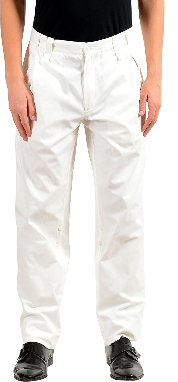 Dolce & Gabbana Men's White Adjustable Casual Pants US 30 IT 46