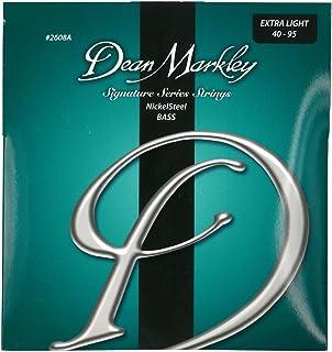 Dean Markley 2608A - Juego de cuerdas para bajo de acero de níquel, 40-95