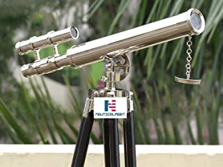 "NauticalMart Chrome Griffith Astro Floor Standing Telescope 18"" with Tripod Stand with 45"" Base"