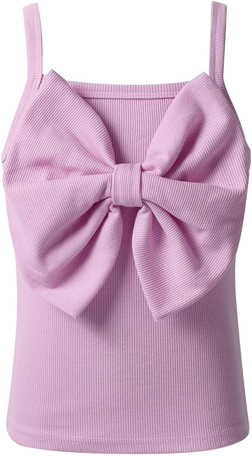 Mufeng Kids Baby Girls Camisole Tank Kansas City Mall Tops Big Ranking TOP6 Bowknot with