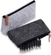 کیسه قلم، قلم، کیف لوازم التحریر، سازگار با سایر لوازم ثابت یا ابزار آرایشی-2 بسته بندی توسط SKYNEW، خاکستری تیره / خاکستری روشن