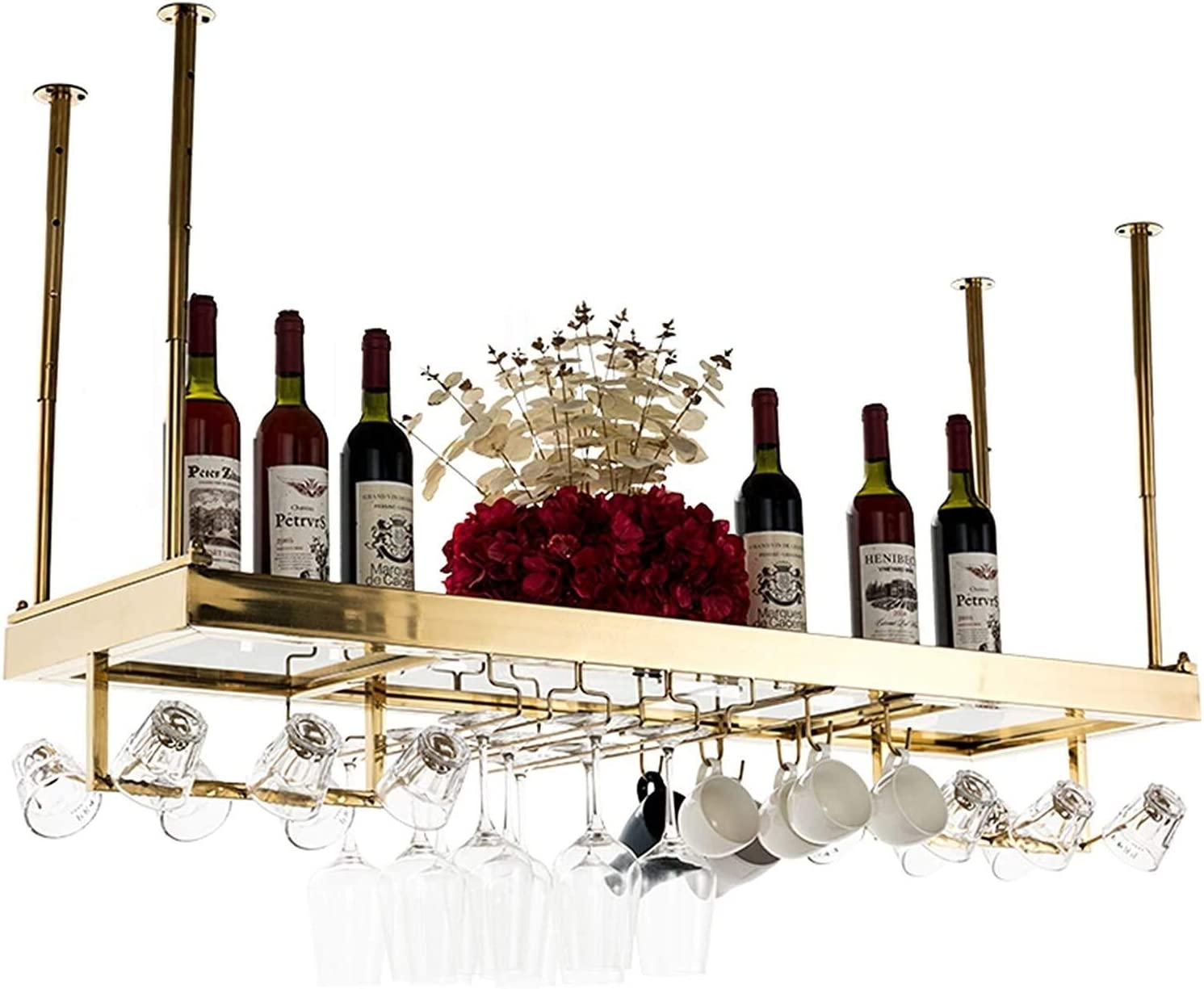 Wine Rack Ceiling Hanging Bottle Ranking TOP2 Holder Bar Outstanding