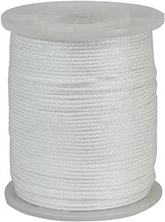 CWC 105050 1000-Feet Solid Braid Nylon Cord Rope, 3/16 Inch