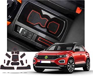 in basso Premium Antiscivolo In Gomma Tappetino Vasca Per VW T-Roc a partire dal 2017