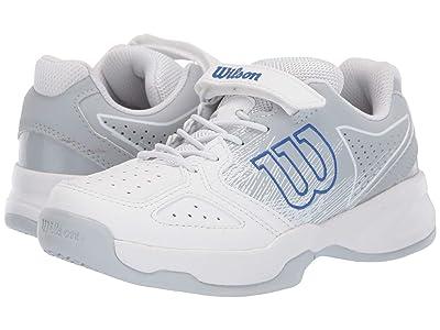 Wilson Kids Kaos K Tennis (Little Kid) (White/Pearl Blue/Dazzling Blue) Boys Shoes