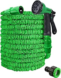 Expandable Garden Hose,50ft Garden Hose Pipe,Garden Hosepipes,Magic Lightweight Watering Hose Pipe with 8-Pattern High-Pre...