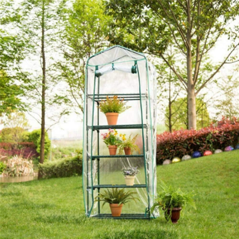 Mini serre /élargie pour lext/érieur int/érieur serre portative avec couvercle en PVC transparent maison chaude pour cour de jardin petites serres de plantes avec /étag/ère