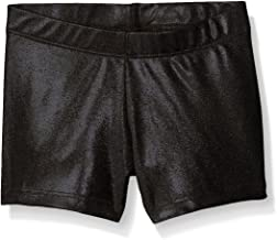 Gia Mia Dance Girls' Big Metallic Short