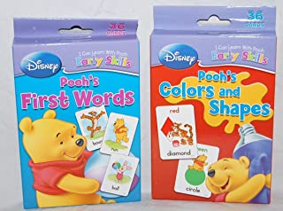 Set of 2 Winnie the Pooh Baby First Words & Colors & Shapes Flash Cards by Disney