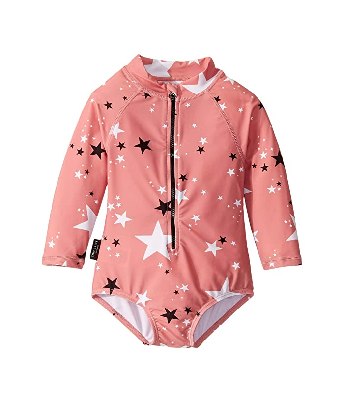 TINY TRIBE  Magic All-In-One Rashie (Infant) (Coral) Girls Jumpsuit and Rompers One Piece