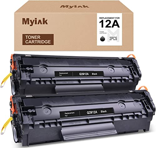 high quality MYIK Compatible Toner Cartridge Replacement for lowest HP 12A Q2612A to use with Laserjet 1020 1018 1012 1022 Canon ImageClass MF4150 MF4270 MF4350d MF4370dn D420 D480 (Black, 2021 2-Pack) outlet sale