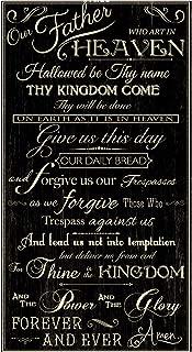 Timeless Treasures Faithful Lord's Prayer 24'' Panel Fabric, Black