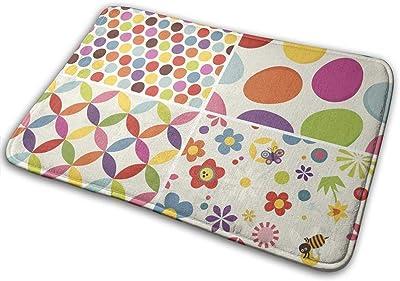 """Four Easter Indoor Doormat Front Back Door Mat,23.6""""x15.8"""" Mat Non Slip Large Door Rug"""