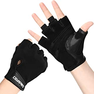 Cevapro Workout Gloves, Weight Lifting Gloves Ultralight Breathable Gym Half Finger Gloves for Powerlifting, Fitness, Cross Training Padded Outdoor Sports Gloves for Men & Women