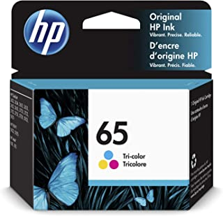 HP 65 | Ink Cartridge | Works with HP Deskjet 2600 Series, 3700 Series, HP ENVY 5000 Series, HP AMP 100, 120, 125, 130 | T...