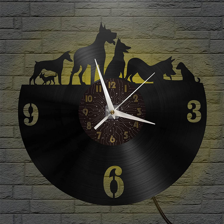 Hound Theme 12 Inch Vinyl Kitc Record Wall Popular popular Clock for Fashion