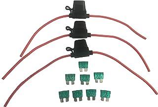 KOLACEN Bilbil lastbil inline 12 mätare vattentät säkringshållare för normal standard bladtyp säkring 12 AWG 30A