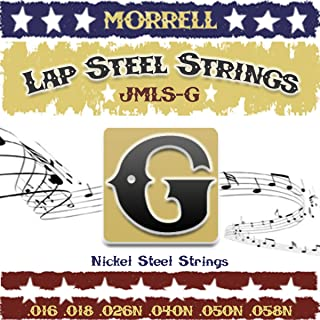 Morrell JMLSG Premium 6-String Lap Steel Guitar Strings for G Tuning 16-58