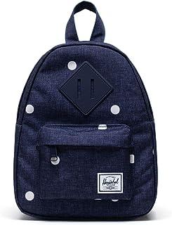 Herschel Heritage Backpack, Polka Dot Crosshatch Peacoat, Mini 7.0L