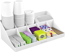 Mind Reader ' Pioneer' Breakroom Organizer 11 Compartment Condiment Holder, White