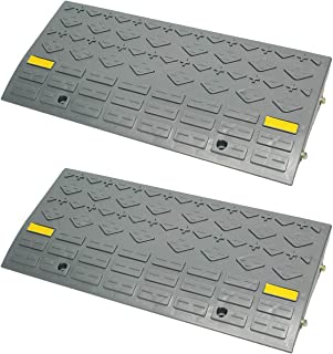 """BISupply   Curb Ramps for Driveway Ramps for Low Cars, Car Ramps, Motorcycle Ramp, Threshold Ramp, Loading Ramps 4"""" 2pk"""