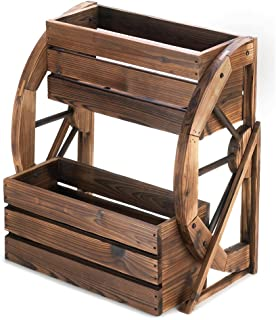 Zings & Thingz 57070008 Water Mill Planter, Brown