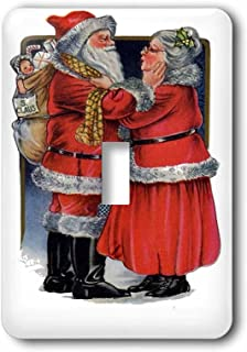 3dRose LLC lsp_78761_1 Mr and Mrs Claus Vintage, Vintage Christmas, Cute, Nostalgic, Father Christmas, Santa Claus Single Toggle Switch