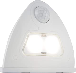 GE 41334 Motion-Activated Over-The-Door Security Light, White