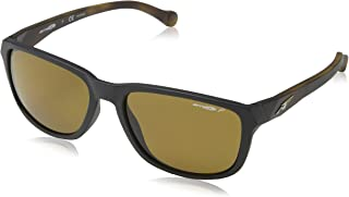 Arnette Straight Cut Unisex Polarized Sunglasses - 2314/83 Matte Black/Havana/Brown