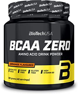 Biotech Bcaa Flash Zero Aminoácido Naranja - 360 gr