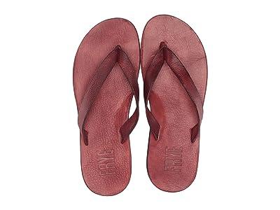 Frye Theo Sandal (Crimson Antique Veg Tan) Men