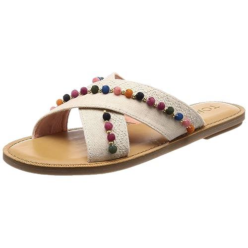 9985736555b Toms Womens Viv Open Toe Casual Slide Sandals